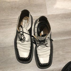 Italian men shoes with matching belt size 10.5